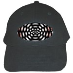 Zombie Apocalypse Warning Sign Black Baseball Cap