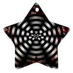 Zombie Apocalypse Warning Sign Star Ornament