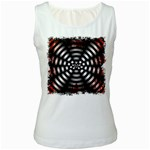 Zombie Apocalypse Warning Sign Women s Tank Top (White)