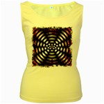 Zombie Apocalypse Warning Sign Women s Tank Top (Yellow)