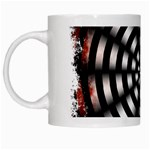 Zombie Apocalypse Warning Sign White Coffee Mug