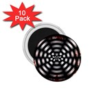 Zombie Apocalypse Warning Sign 1.75  Button Magnet (10 pack)