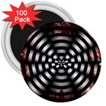 Zombie Apocalypse Warning Sign 3  Button Magnet (100 pack)