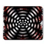 Zombie Apocalypse Warning Sign Large Mouse Pad (Rectangle)