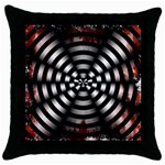Zombie Apocalypse Warning Sign Black Throw Pillow Case