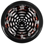 Zombie Apocalypse Warning Sign Wall Clock (Black)