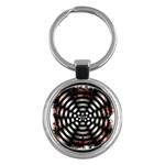 Zombie Apocalypse Warning Sign Key Chain (Round)