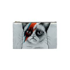 Grumpy Bowie Cosmetic Bag (small) by Olechka