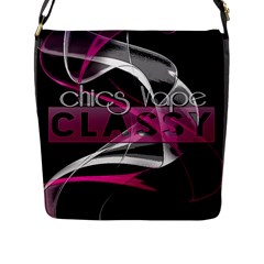 Classy Chics Vape Pink Smoke  Flap Closure Messenger Bag (large) by OCDesignss