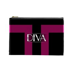 Pink Diva  Cosmetic Bag (large) by OCDesignss