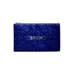 Blue Bit?h Cosmetic Bag (small) by OCDesignss