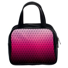 Pink Gradient Mosaic Classic Handbag (two Sides)