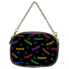 Meow Print Chain Purse (two Sided)