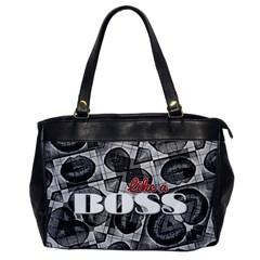 Like A Boss Blk&wht Oversize Office Handbag (one Side) by OCDesignss