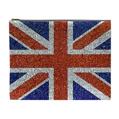 England Flag Grunge Style Print Cosmetic Bag (xl) by dflcprints