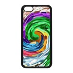 CirclesMultiColouredSwirlFinal Apple iPhone 5C Seamless Case (Black)