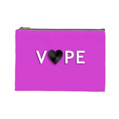 Vape Heart Cosmetic Bag (large) by OCDesignss