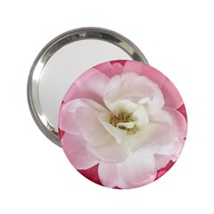 White Rose With Pink Leaves Around  Handbag Mirror (2 25 ) by dflcprints