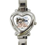 About Me Heart Italian Charm Watch