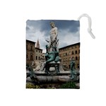 Florence Italy Statue And Square Drawstring Pouch (Medium)