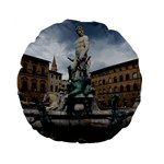 Florence Italy Statue And Square 15  Premium Flano Round Cushion
