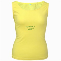 Risk It Women s Tank Top (yellow)