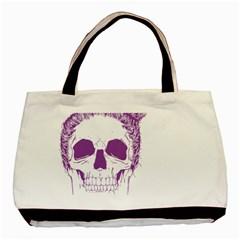 Purple Skull Bun Up Classic Tote Bag by vividaudacity