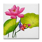 Lillies Tile Coaster