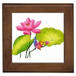 Lillies Framed Tile