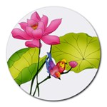 Lillies Round Mousepad