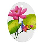 Lillies Ornament (Oval)