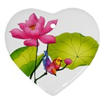 Lillies Ornament (Heart)