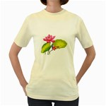 Lillies Women s Yellow T-Shirt