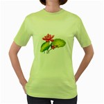 Lillies Women s Green T-Shirt