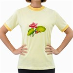 Lillies Women s Fitted Ringer T-Shirt