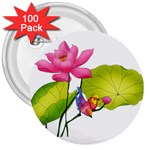 Lillies 3  Button (100 pack)