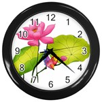 Lillies Wall Clock (Black)