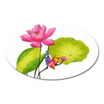 Lillies Magnet (Oval)