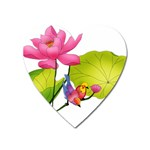 Lillies Magnet (Heart)