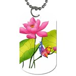Lillies Dog Tag (One Side)