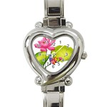 Lillies Heart Italian Charm Watch