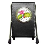 Lillies Pen Holder Desk Clock