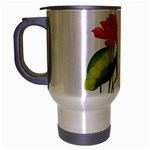 Lillies Travel Mug (Silver Gray)