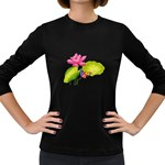 Lillies Women s Long Sleeve Dark T-Shirt