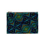 Tribal Style Colorful Geometric Pattern Cosmetic Bag (Medium) Front