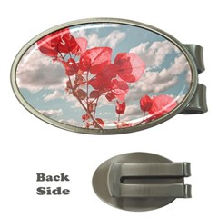 Flowers In The Sky Money Clip (oval) by dflcprints