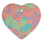 Tropical Summer Fruit Salad Ornament (Heart)