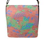 Tropical Summer Fruit Salad Flap Closure Messenger Bag (L)