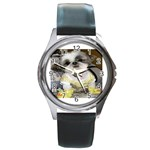 So Ducky Round Metal Watch