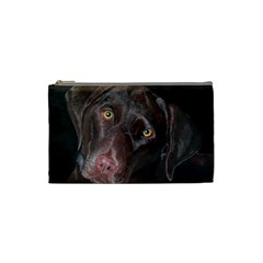 Inquisitive Chocolate Lab Cosmetic Bag (small) by LabsandRetrievers
